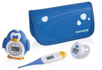 Zestaw 3 termometrów cyfrowych - termometr flexi, do kąpieli, smoczek