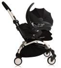 Fotelik samochodowy Babyzen BeSafe iZi Go Modular + adaptery - czarny