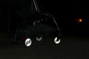 Odblaskowe naklejki na koła wózka - Sowy