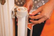 bramki bezpieczeństwa - Bramka zabezpieczająca Roll Up (W: 140cm x H: 75cm) - biała