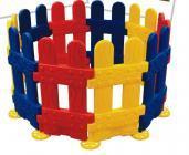 Kojec 10 bramek - czerwono-żółto-niebieski