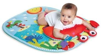 maty edukacyjne - Gimnastyka dla bobasa z poduszką - Czas dla brzuszka