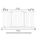 bramki bezpieczeństwa - Zestaw Combo-bramka Chelsea(W:97-106cm x H:75cm)+rozszerzenia 9cm,18cm