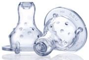 Smoczek silikonowy niekapek Nuby - standardowa szyjka 2szt.