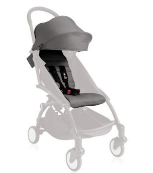 wózki dziecięce - Zestaw kolorystyczny do siedziska Babyzen YOYO+ 6+ - szary
