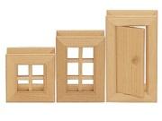 Klocki konstrukcyjne drewniane okna i drzwi III 3 szt