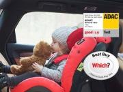 foteliki  samochodowe - Fotelik samochodowy BeSafe iZi Kid X2 i-Size - czarny melange - 01