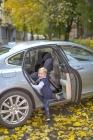 foteliki  samochodowe - Fotelik samochodowy BeSafe iZi Plus - czarny melange - 01