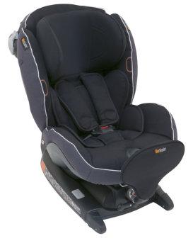 foteliki  samochodowe - Fotelik samochodowy BeSafe iZi Combi X4 ISOfix - czarny melange - 01