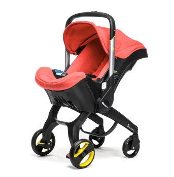 foteliki  samochodowe - Mobilny fotelik samochodowy Doona+  czerwony