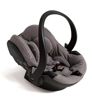 foteliki  samochodowe - Fotelik samochodowy Babyzen BeSafe iZi Go Modular + adaptery - szary