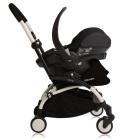 foteliki  samochodowe - Fotelik samochodowy Babyzen BeSafe iZi Go Modular + adaptery - czarny