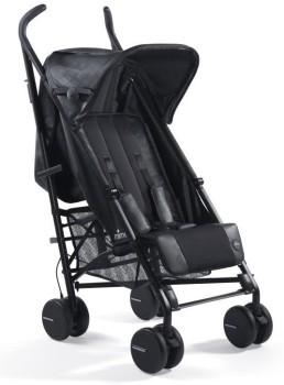 wózki dziecięce - Wózek spacerowy mima Bo Black + osłonka przeciwdeszczowa