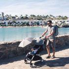 wózki - akcesoria - Parasolka do wózka Babyzen - szara