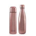 Termos dla dziecka + butelka dla rodzica Deluxe 500ml - różowe