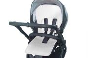 Uniwersalna wkładka antypotowa do wózka spacerowego - Lyocell - biała