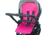 Uniwersalna wkładka antypotowa do wózka spacerowego - Lyocell - różowa