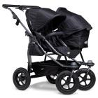 Wózek bliźniaczy TFK Duo Combi koła pomp.(2 gondole Duo-Combi)-czarny