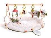 Gimnastyka/mata edukacyjna z drewnianym stojakiem - Boho Chic