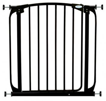 bramki bezpieczeństwa - Bramka bezpieczeństwa Chelsea (W: 71-80cm x H: 75cm) - czarna