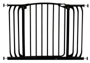 Bramka bezpieczeństwa Chelsea-szeroka (W: 97-106cm x H: 75cm) - czarna