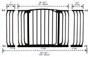 bramki bezpieczeństwa - Bramka bezpieczeństwa Chelsea-szeroka (W: 97-106cm x H: 75cm) - czarna