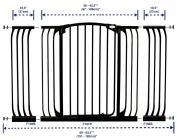 bramki bezpieczeństwa - Bramka bezpieczeństwa Chelsea - szeroka (W: 97-106cm x H: 1m) - czarna
