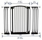 Rozszerzenie bramki bezpiecz.Chelsea-18cm(wys. 1m)-czarne(brąz.karton)