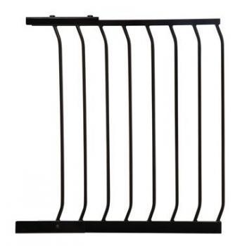 bramki bezpieczeństwa - rozszerzenia - Rozszerzenie bramki bezpieczeństwa Chelsea - 63cm (wys. 75cm) - czarne