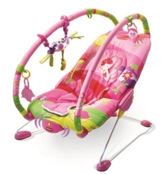 leżaczki - Leżaczek wibrujący z regulowanymi pałąkami - Mała Księżniczka