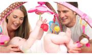 maty edukacyjne - Gimnastyka dla bobasa z pałąkami Move&Play - Mała Księżniczka