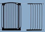 bramki bezpieczeństwa - rozszerzenia - Rozszerzenie bramki bezpieczeństwa Chelsea - 45cm (wys. 1m) - czarne