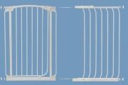 bramki bezpieczeństwa - rozszerzenia - Rozszerzenie bramki bezpieczeństwa Chelsea - 54cm (wys. 1m) - białe
