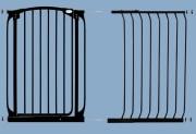 bramki bezpieczeństwa - rozszerzenia - Rozszerzenie bramki bezpieczeństwa Chelsea - 63cm (wys. 1m) - czarne