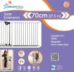 bramki bezpieczeństwa - Rozszerze bramki bezpieczeństwa Empire - 70cm (wys. 75cm) - srebrne