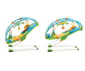 leżaczki - Leżaczek wibrujący z regulowanymi pałąkami