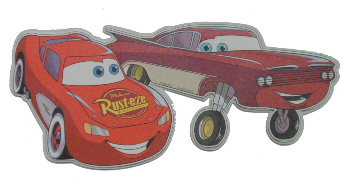 Dekoracja ścienna dwuwarstwowa - Cars - Zygzak i Roman, Disney