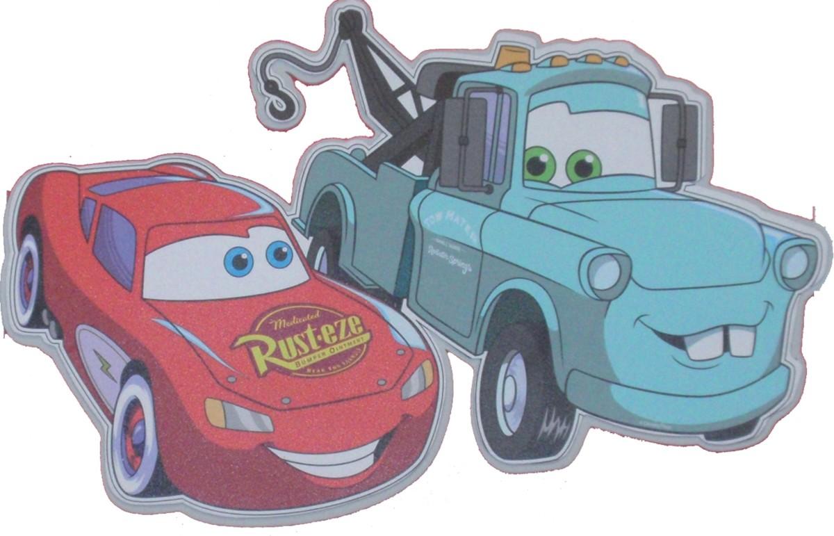 Dekoracja ścienna dwuwarstwowa-Cars-Zygzak i Złomek, Disney