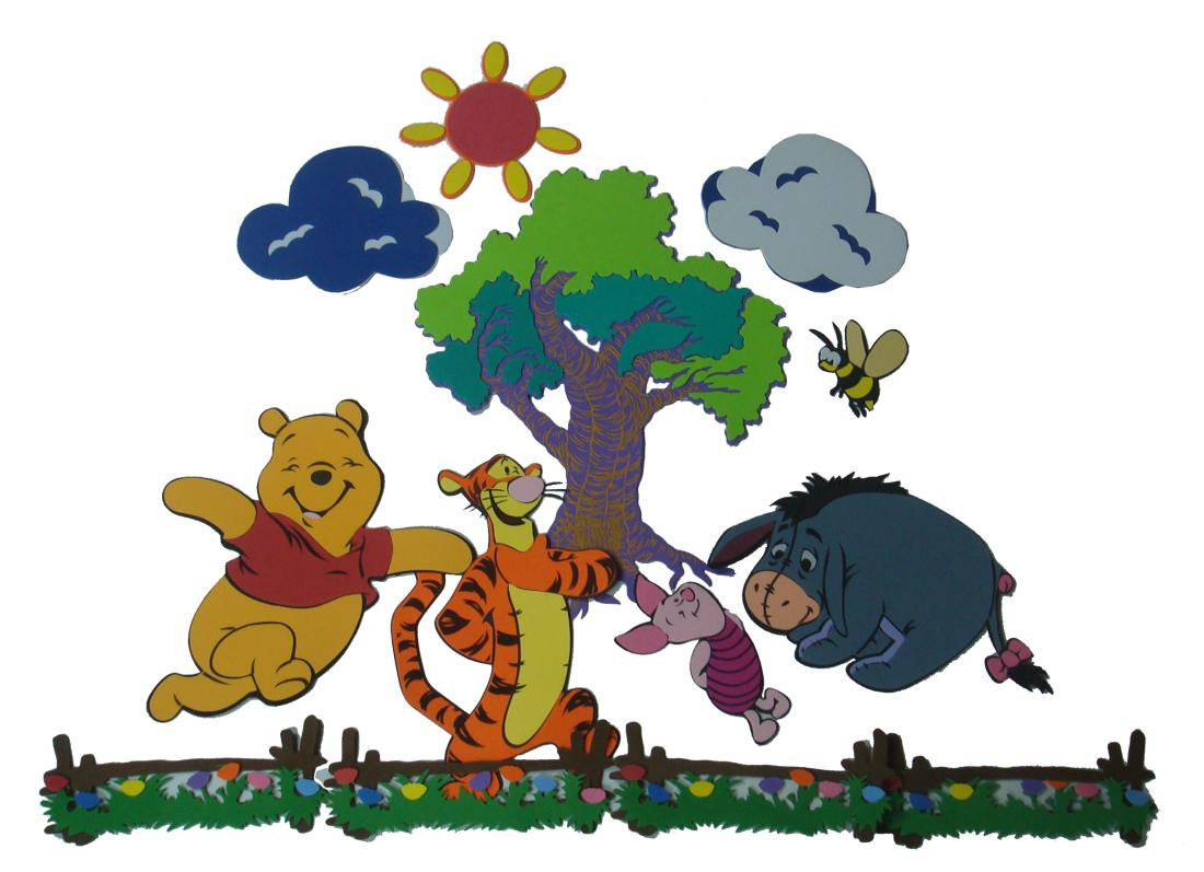 Zestaw Kubuś z przyjaciółmi - dekoracja ścienna, Disney